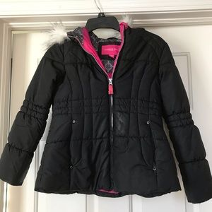 Size 7/8 Black/Pink London Fog Jacket